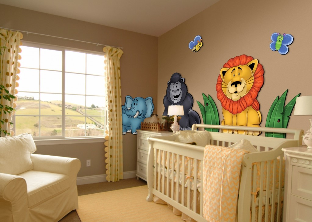 Baby Jungle Theme Wall Decor
