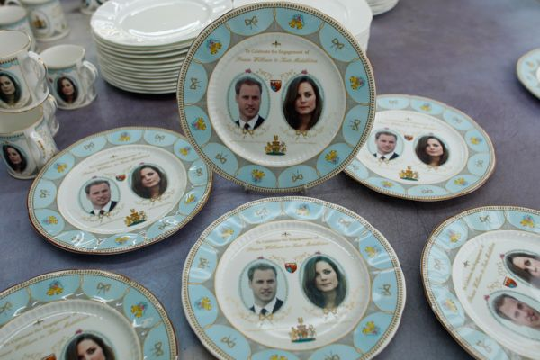 decoracao do casamento de kate middleton:Alguns dos souvenirs do Casamento Real Britanico
