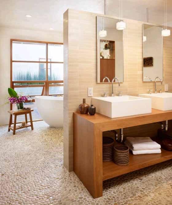 Conhecido Banheiro Com Pedra Natural - Wdicas | Wdicas JE46