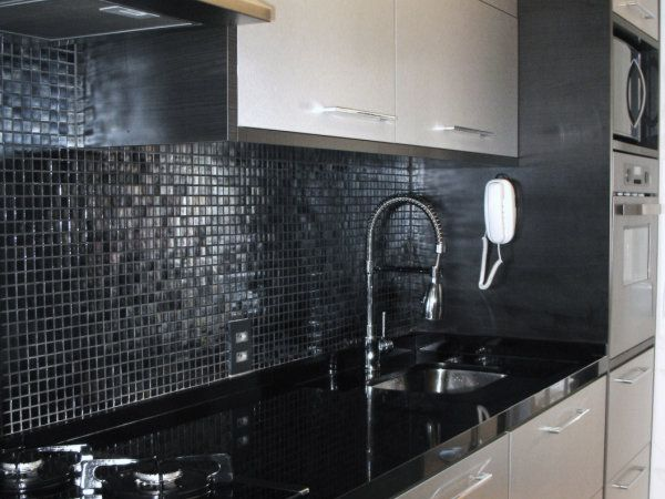 Algumas ideias de cozinhas com pastilha de vidro