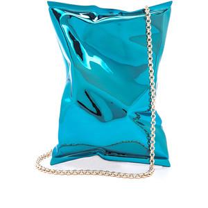 bolsa metalica estilo saco de salgadinho