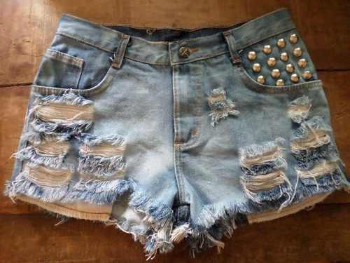shorts jeans destroyed customizado