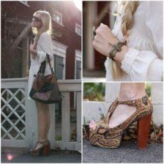 Sapatos Femininos Salto Quadrado